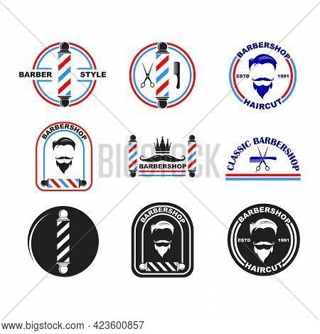 Barber Shop Icon Logo Vector Icon