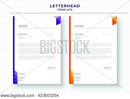 Letterhead Template, Professional Minimalist, Corporate Letterhead Template.