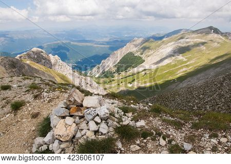 Panoramic View Of The Summit Of Monte Bove Sud In The National Park Of Monti Sibillini, Central Ital