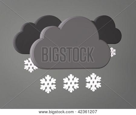 Weather Symbol on grey