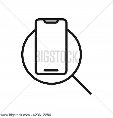 Mobile Phone with Search icon. Mobile Phone Search icon. Mobile Phone icon. Phone icon. Mobile Phone vector. Phone vector. Mobile Phone with Search icon vector. Mobile Phone with Search icon vector design for web icon, logo, sign, symbol, app