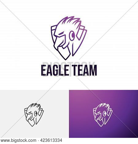 Eagle Hawk Falcon Strong Shield Game Esport Team Logo