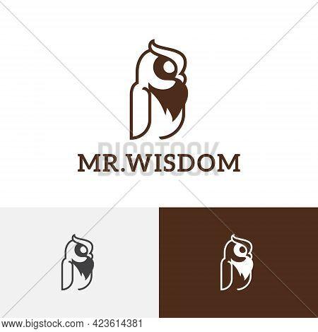Wise Owl Wisdom Business Education Night Bird Logo