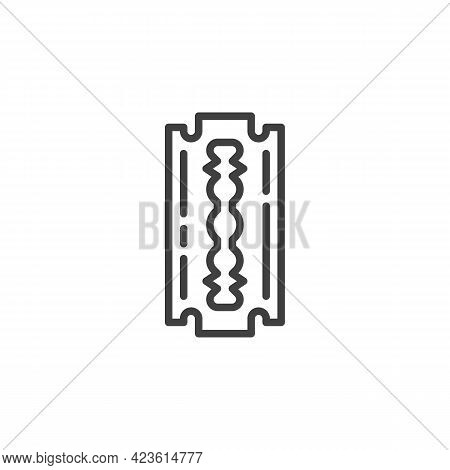 Razor Blade Line Icon. Linear Style Sign For Mobile Concept And Web Design. Shave Blade Outline Vect