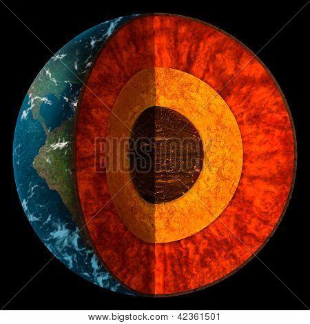 Querschnitt der Planet Erde illustration