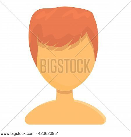 Red Male Hair Icon. Cartoon Of Red Male Hair Vector Icon For Web Design Isolated On White Background