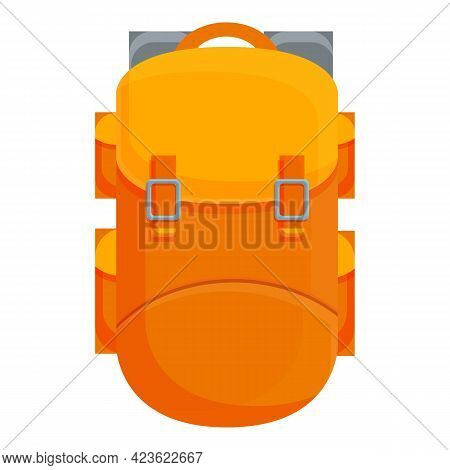 Camping Large Backpack Icon. Cartoon Of Camping Large Backpack Vector Icon For Web Design Isolated O