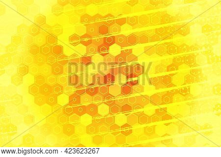 Gradient Geometric Wallpaper. Abstract Background From Geometric Shapes And Rhombuses, Honeycombs. P