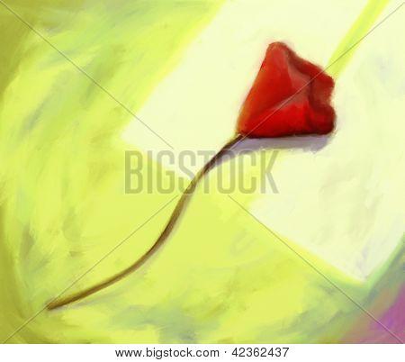 rote Blume digitale Malerei