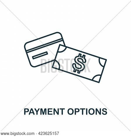 Payment Options Line Icon. Simple Outline Illustration From E-commerce Collection. Creative Payment