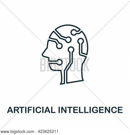 Artificial Intelligence Line Icon. Creative Outline Design From Artificial Intelligence Icons Collec