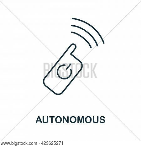 Autonomous Line Icon. Creative Outline Design From Artificial Intelligence Icons Collection. Thin Au
