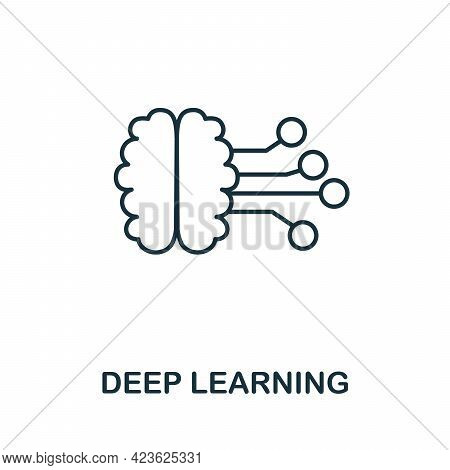 Deep Learning Line Icon. Creative Outline Design From Artificial Intelligence Icons Collection. Thin