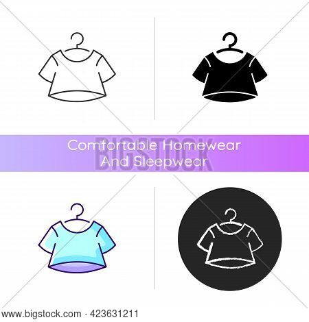 Crop Top Icon. Short For Women. Unisex Comfy Wear. Outfit For Home Lounging. T Shirt. Comfortable Ho