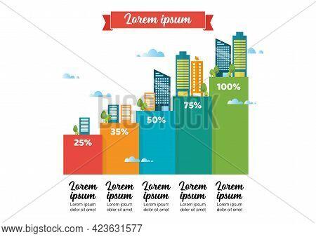 Urban Growth Infographic. Vector Illustration Graphic Design