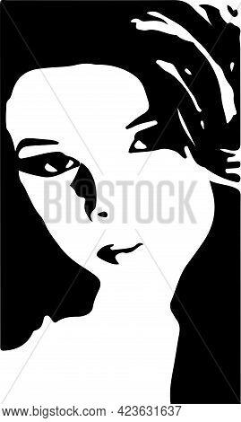 Silhouette Of Pretty Woman.vector Illustration, Pretty, Sensuality, Sexy