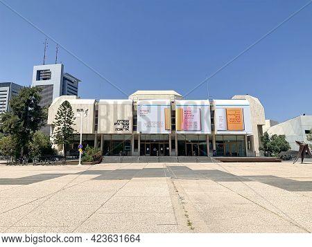 Tel Aviv, Israel - May 25, 2020: The Building Of The Main Library In Tel Aviv