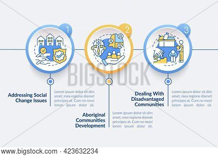 Society Progress Targets Vector Infographic Template. Social Changes Presentation Outline Design Ele