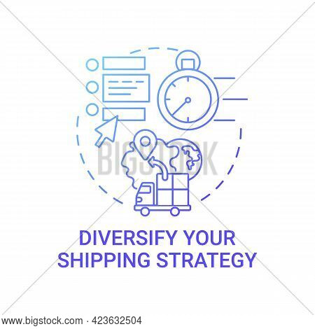 Diversify Shipping Strategy Concept Icon. Online Marketplace Success Tip Abstract Idea Thin Line Ill