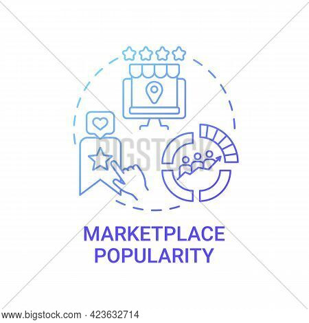 Marketplace Popularity Concept Icon. Reaching Large Audience Abstract Idea Thin Line Illustration. C