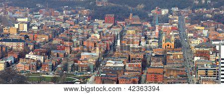 Panoramic view of Cincinnati historic district