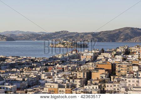 San Francisco Marina District and Alcatraz Island National Park