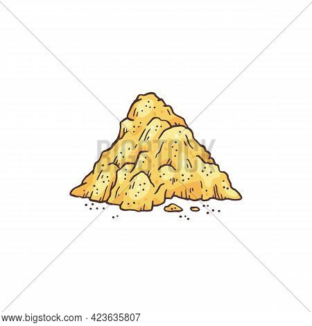 Powder Condiment From Dried Plant Ginger Root, Natural Food Asian .