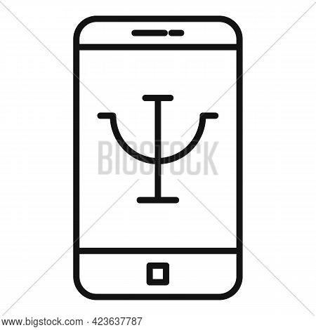Psychological Mobile App Icon. Outline Psychological Mobile App Vector Icon For Web Design Isolated