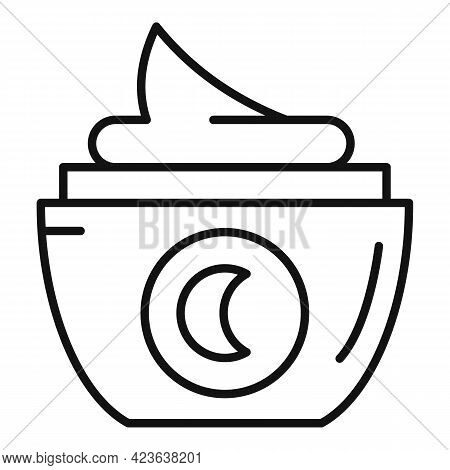 Moisturizing Cream Icon. Outline Moisturizing Cream Vector Icon For Web Design Isolated On White Bac