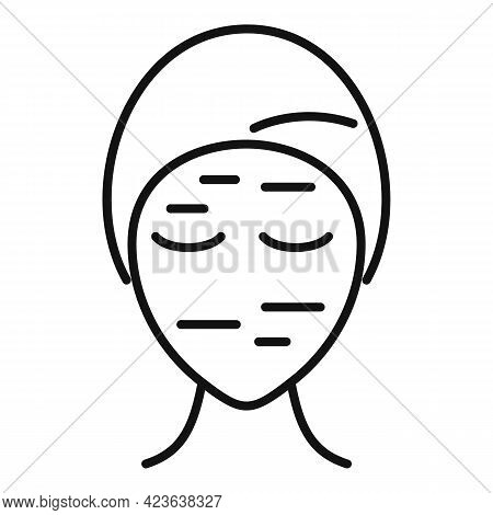 Wrinkles On Face Icon. Outline Wrinkles On Face Vector Icon For Web Design Isolated On White Backgro