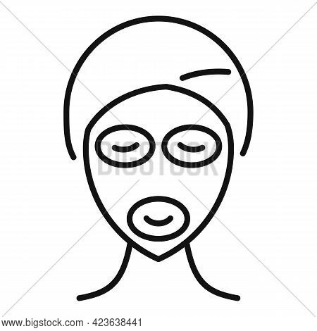 Nourishing Face Mask Icon. Outline Nourishing Face Mask Vector Icon For Web Design Isolated On White