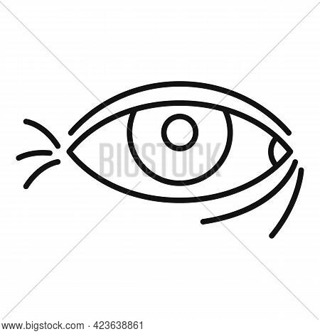 Wrinkles Under Eyes Icon. Outline Wrinkles Under Eyes Vector Icon For Web Design Isolated On White B