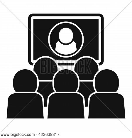 Business Online Meeting Icon. Simple Illustration Of Business Online Meeting Vector Icon For Web Des