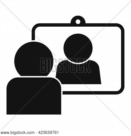 Social Online Meeting Icon. Simple Illustration Of Social Online Meeting Vector Icon For Web Design