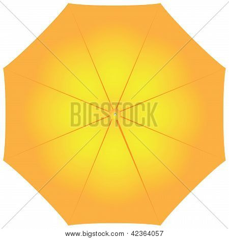 Female Yellow Umbrella