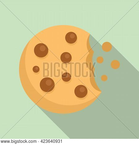 Cookie Icon. Flat Illustration Of Cookie Vector Icon For Web Design