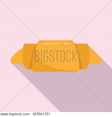 Croissant Icon. Flat Illustration Of Croissant Vector Icon For Web Design