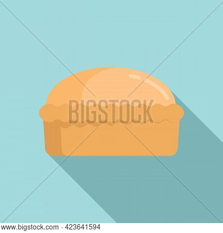 Homemade Bread Icon. Flat Illustration Of Homemade Bread Vector Icon For Web Design