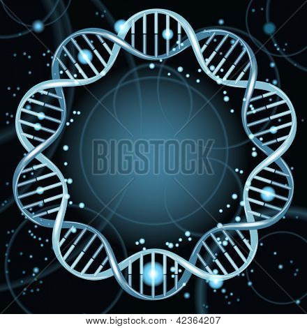 Vector illustration of dna strands. File is saved in AI10 EPS version. This illustration contains a transparency