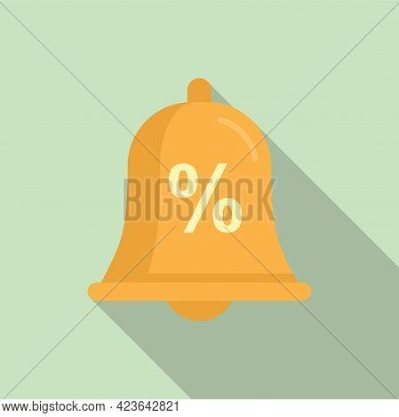 Bonus Bell Icon. Flat Illustration Of Bonus Bell Vector Icon For Web Design