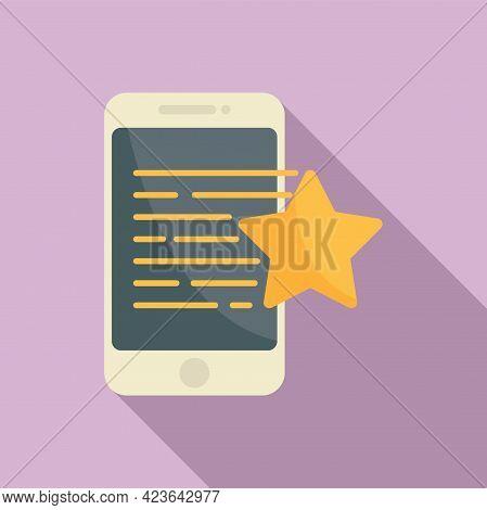 Bonus Smartphone Icon. Flat Illustration Of Bonus Smartphone Vector Icon For Web Design