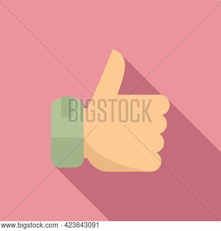 Bonus Thumb Up Icon. Flat Illustration Of Bonus Thumb Up Vector Icon For Web Design