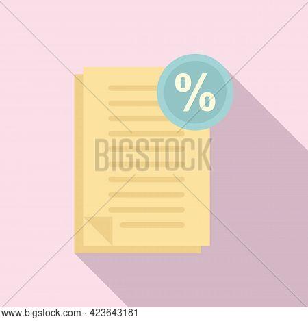 Bonus Documents Icon. Flat Illustration Of Bonus Documents Vector Icon For Web Design