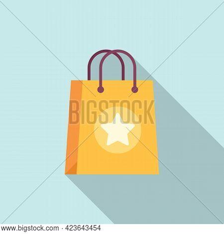 Sale Bonus Bag Icon. Flat Illustration Of Sale Bonus Bag Vector Icon For Web Design