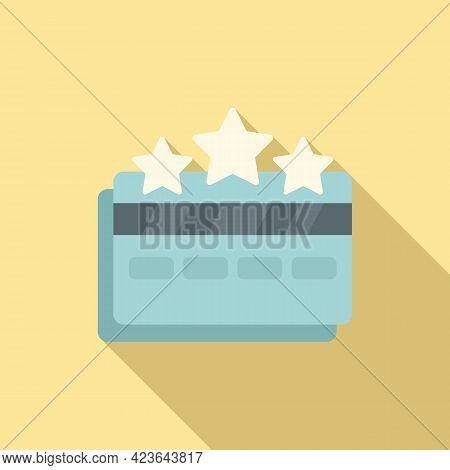 Sale Bonus Bank Card Icon. Flat Illustration Of Sale Bonus Bank Card Vector Icon For Web Design