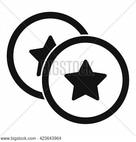 Sale Bonus Coins Icon. Simple Illustration Of Sale Bonus Coins Vector Icon For Web Design Isolated O