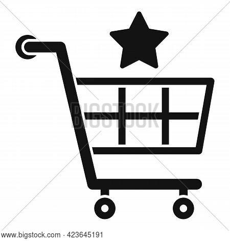 Sale Bonus Shop Cart Icon. Simple Illustration Of Sale Bonus Shop Cart Vector Icon For Web Design Is