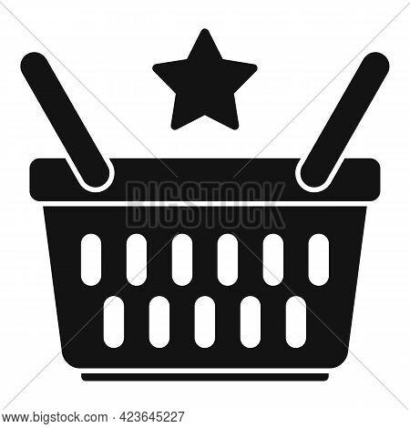 Sale Bonus Basket Icon. Simple Illustration Of Sale Bonus Basket Vector Icon For Web Design Isolated