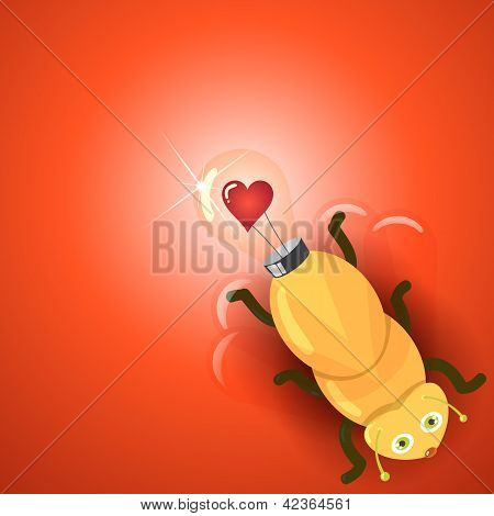 Liefde gloeilamp Firefly