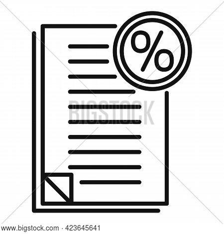 Bonus Documents Icon. Outline Bonus Documents Vector Icon For Web Design Isolated On White Backgroun